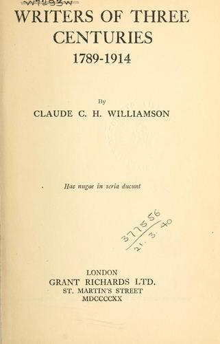 Download Writers of three centuries, 1789-1914