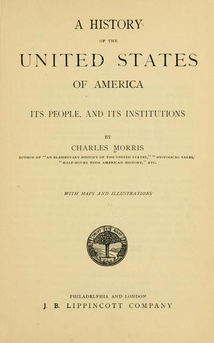 Download A history of the United States of America, its people, and its institutions