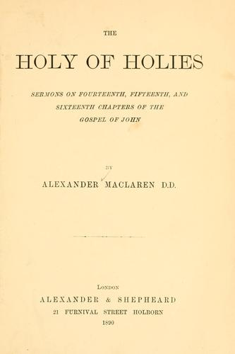 Download The Holy of Holies