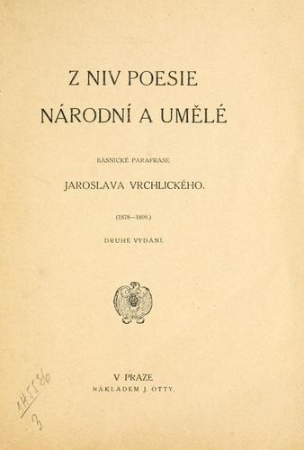 Z niv poesie národní a umlé