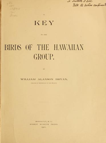 Download A key to the birds of the Hawaiian group.