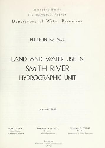 Download Land and water use in Smith River hydrographic unit.