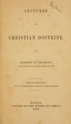 Download Lectures on Christian doctrine.