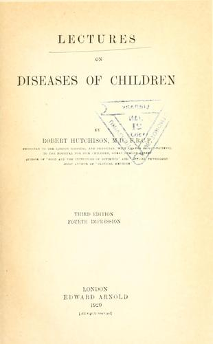 Download Lectures on diseases of children
