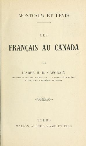 Download Les Français au Canada. —
