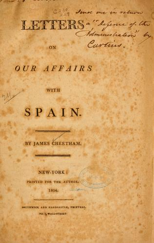 Download Letters on our affairs with Spain.