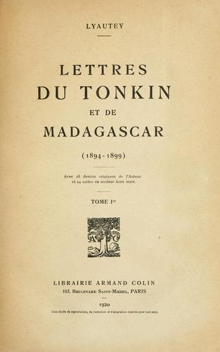 Download Lettres du Tonkin et de Madagascar (1894-1899)