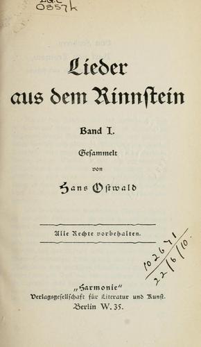 Download Lieder aus dem Rinnstein.