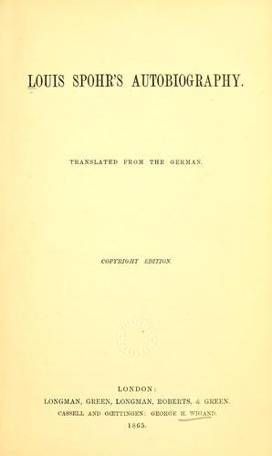 Louis Spohr's autobiography