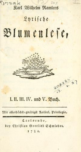 Download Lyrische Blumenlese.