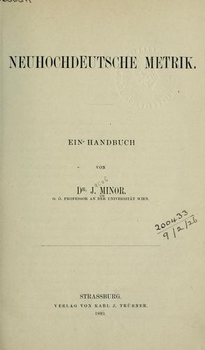 Download Neuhochdeutsche Metrik