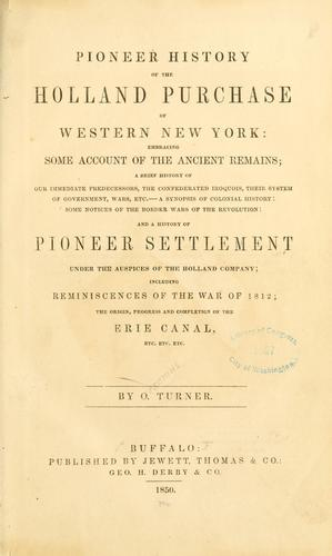 Download Pioneer history of the Holland purchase of Western New York