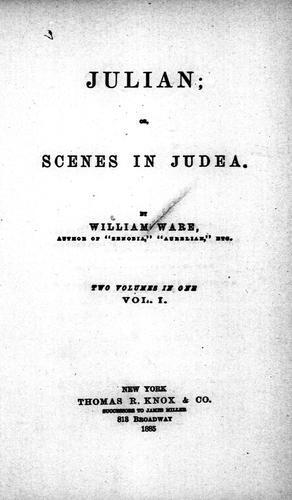 Julian, or, Scenes in Judea