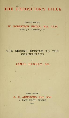The second epistle to the Corinthians.