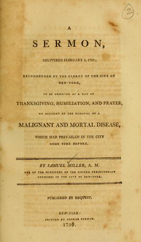 A sermon, delivered February 5, 1799
