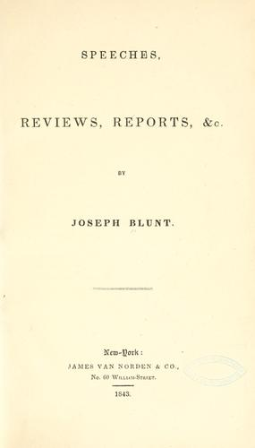 Speeches, reviews, reports, &c.