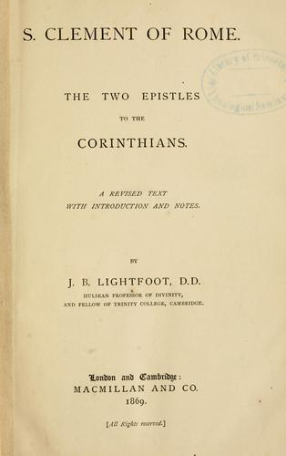 The two epistles to the Corinthians