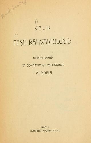 Download Valik eesti rahvalaulusid