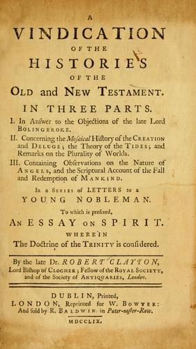 Download A vindication of the histories of the Old and New Testament.