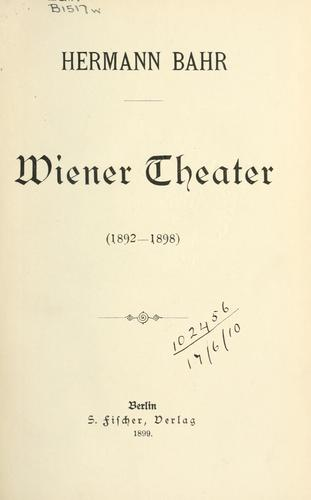 Wiener Theater, 1892-1898.
