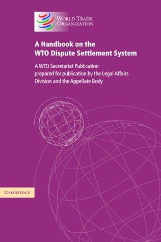Download A Handbook on the WTO Dispute Settlement System