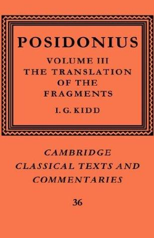 Download Posidonius (Cambridge Classical Texts and Commentaries)