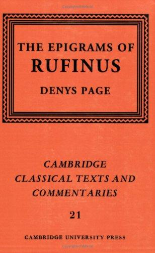 Download The epigrams of Rufinus