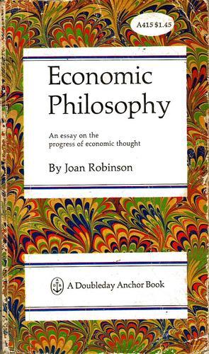 Economic philosophy.
