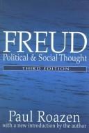 Freud: Political and Social Thought, Roazen, Paul; Roazen, Paul (Introduction)