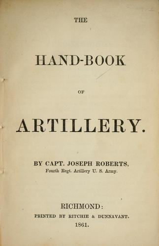 Download The hand-book of artillery.