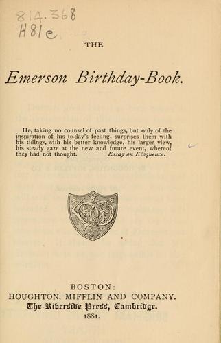 The Emerson birthday-book.