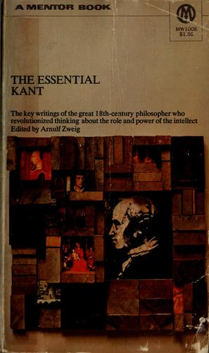 Download The essential Kant.