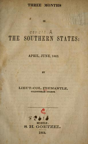 Download Three months in the southern states