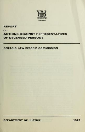 Download Report on actions against representatives of deceased persons.