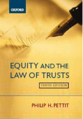 Download Equity and the law of trusts