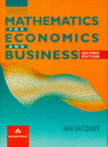 Download Mathematics for economics and business