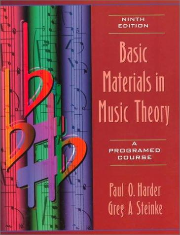 Download Basic materials in music theory