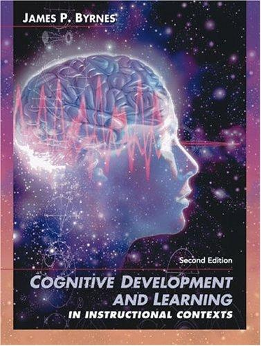 Download Cognitive development and learning in instructional contexts