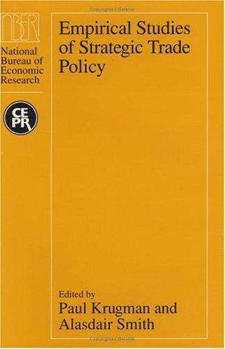 Thumbnail of Empirical Studies of Strategic Trade Policy (National Bureau of Economic Researc