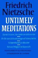 Download Untimely meditations