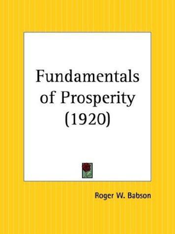 Download Fundamentals of Prosperity