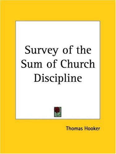Download Survey of the Sum of Church Discipline