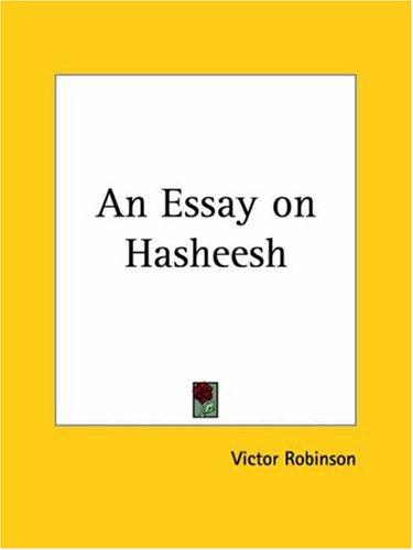 Download An Essay on Hasheesh