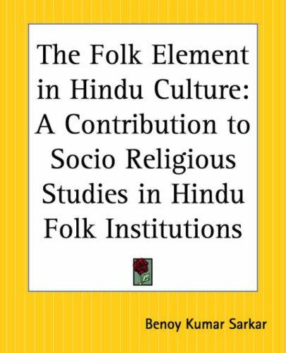 Download The Folk Element In Hindu Culture