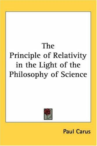 Download The Principle of Relativity in the Light of the Philosophy of Science