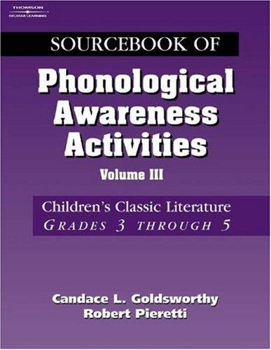 Download Sourcebook of phonological awareness activities