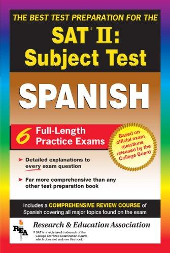 Image for SAT II: Spanish Reading Test (REA) -- The Best Test Prep for the SAT II (Test Preps)