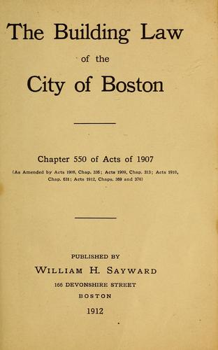 Download The building law of the city of Boston