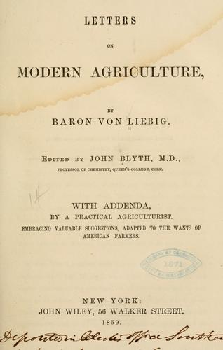 Download Letters on modern agriculture