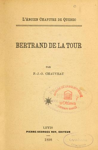 Download Bertrand de la Tour